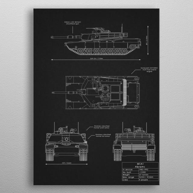 M1A1 Abrams metal poster