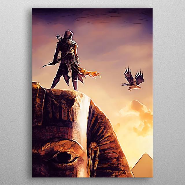 Assassin#6 - sketch metal poster