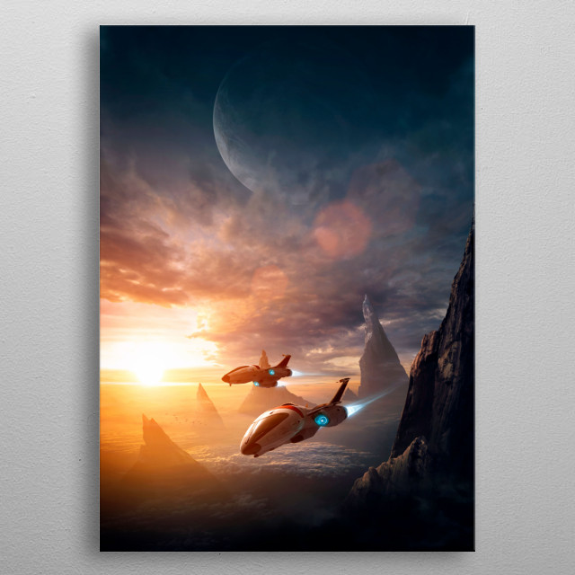 Monolith Valley metal poster