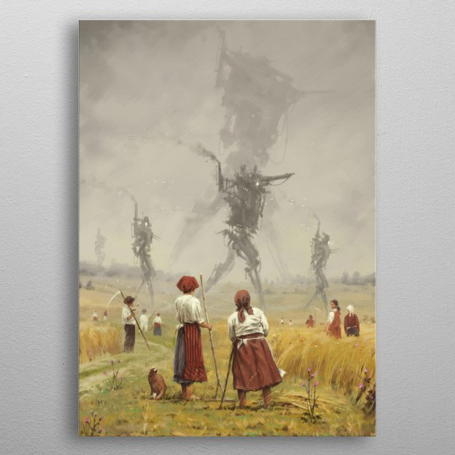 1920 - The march of the Iron Scarecrows metal poster