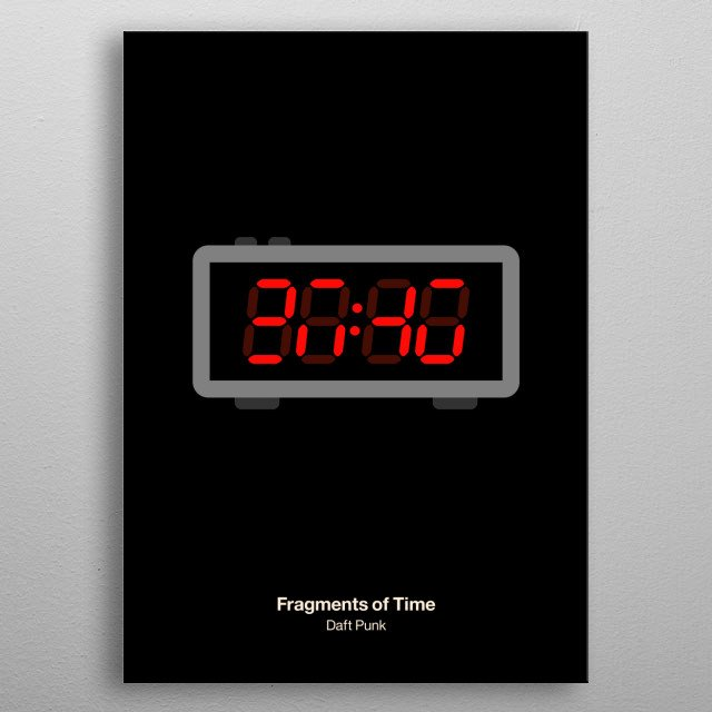 Fragments of Time metal poster