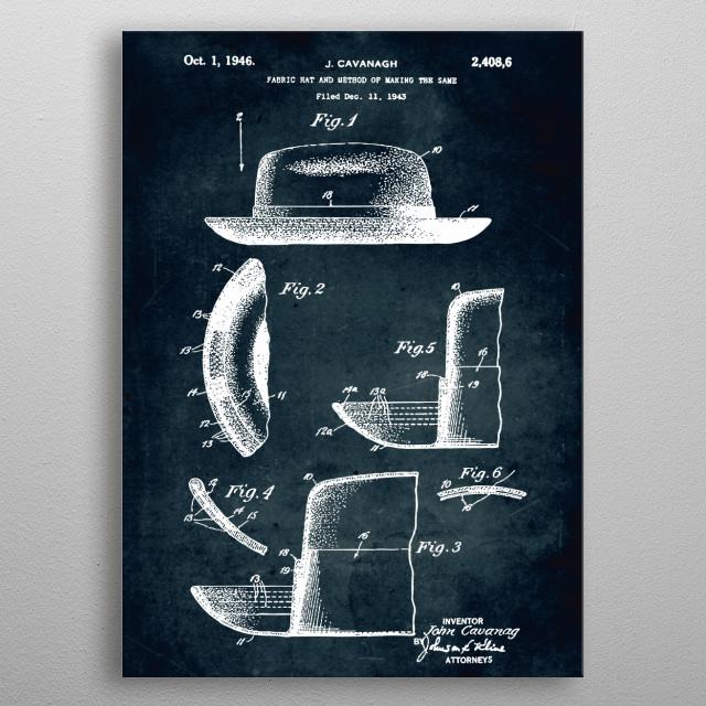 No322 - 1946 - Fabric hat - Cavanagh metal poster