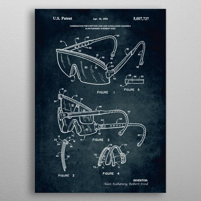 No320 - 1991 - Prescription lens and sunglassed as metal poster
