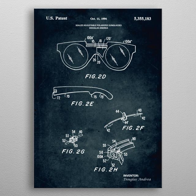 No319 - Sealed adjustable polarized sunglasses metal poster