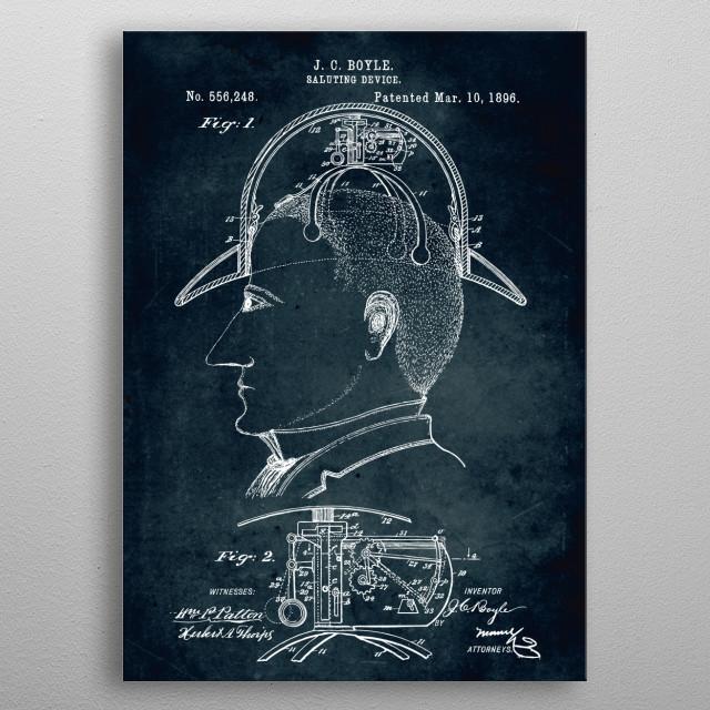 No321 - 1896 - Saluting device metal poster
