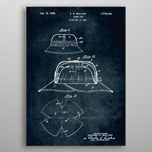 No323 - 1927 - Safety hat -Bullard metal poster