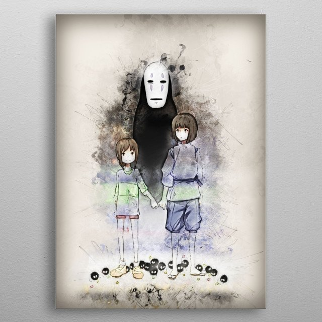 Spirited Away metal poster