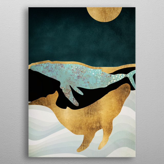 Whale Song metal poster