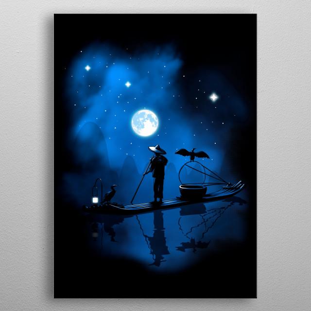Fisherman boat in china  metal poster