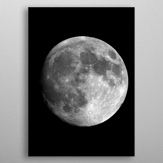 The moon shot metal poster