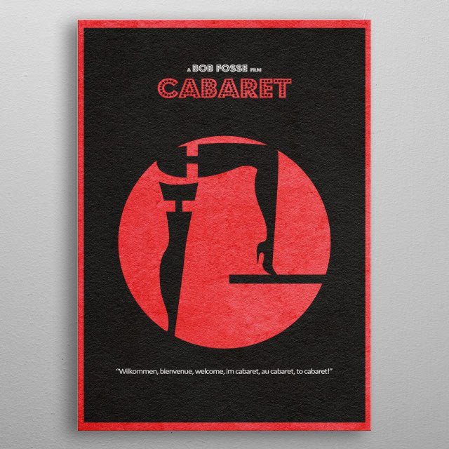 Cabaret Minimalist and Alternative Movie Poster metal poster