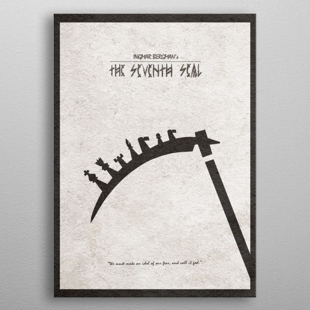 The Seventh Seal Minimal & Alternate Movie Poster metal poster