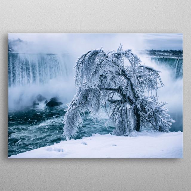 A Frozen Niagara metal poster