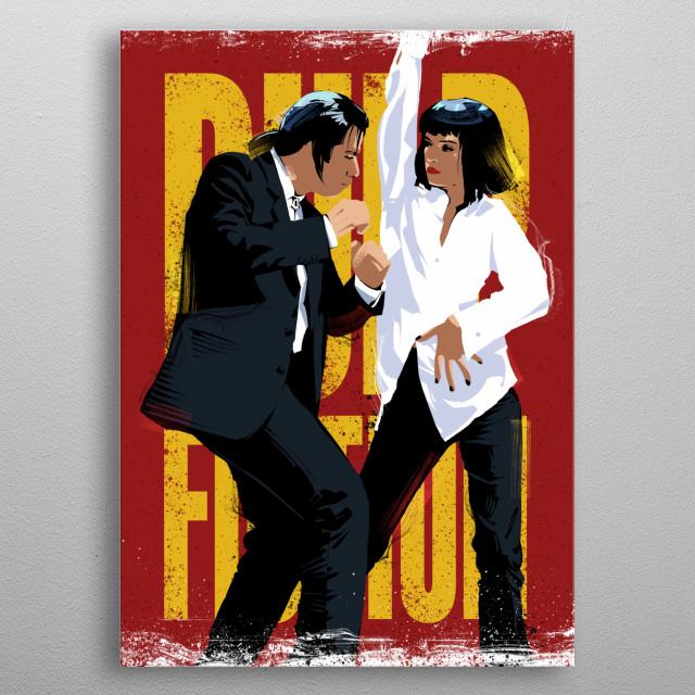 Pulp Fiction Quentin Tarantino Mia Wallace John Travolta metal poster