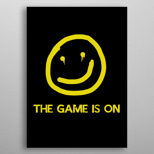 the game is on metal poster