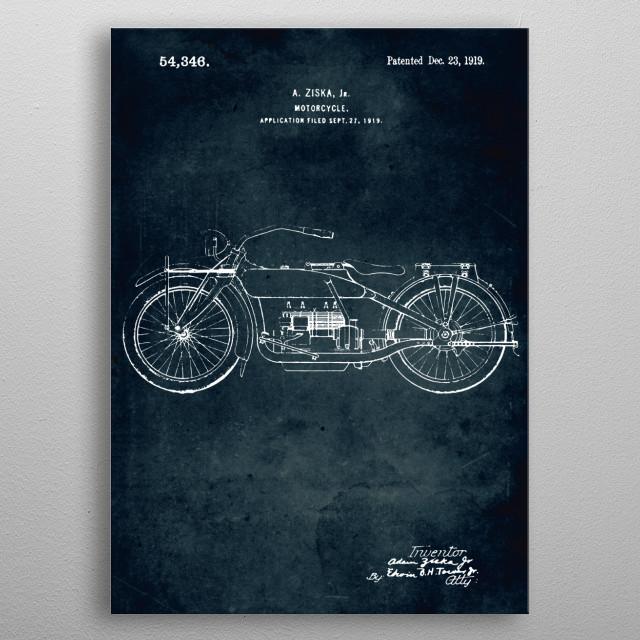 No326 - 1919 - Motorcycle - A. Ziska, Jr metal poster