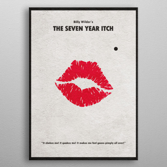 The Seven Year Itch Minimalist Movie Poster metal poster