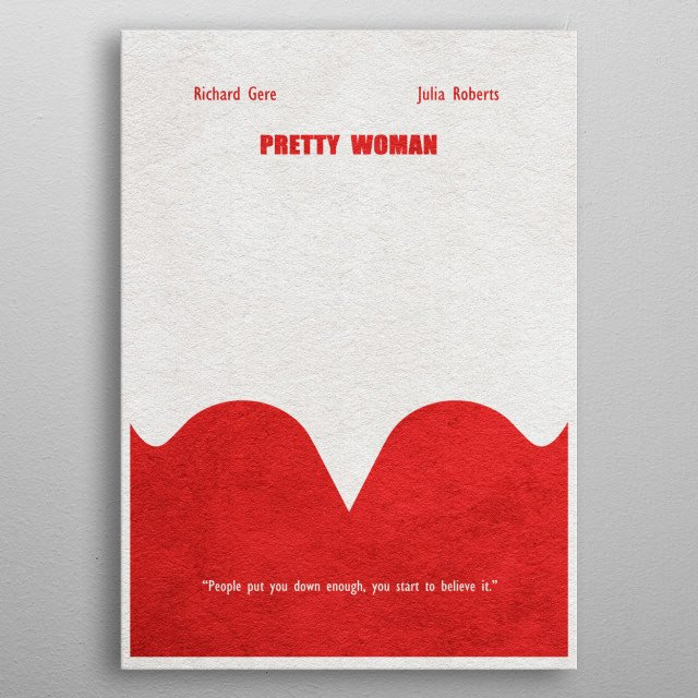 Pretty Woman Minimalist & Alternative Movie Poster metal poster