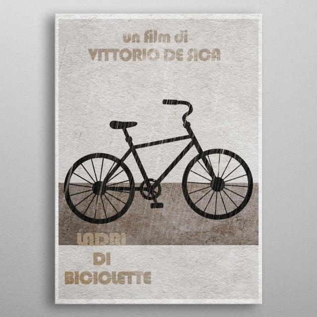 Bicycle Thieves Minimal & Alternate Movie Poster metal poster