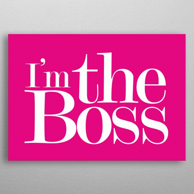 Boss metal poster