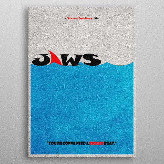 Jaws Minimalist and Alternative Movie Poster metal poster