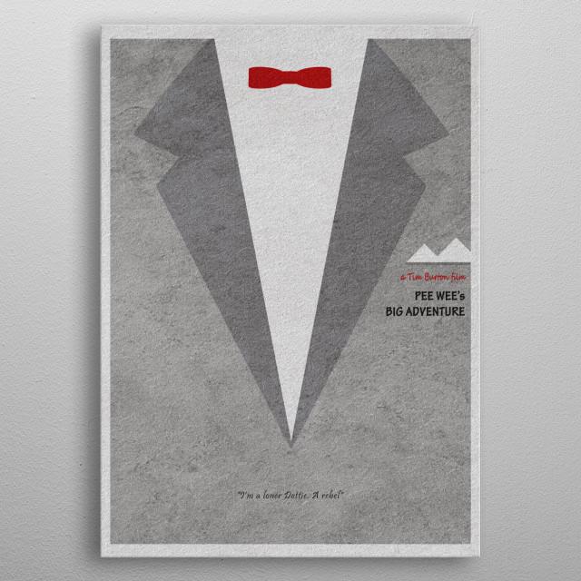 Pee-wee's Big Adventure Minimalist and Alternative Movie Poster metal poster