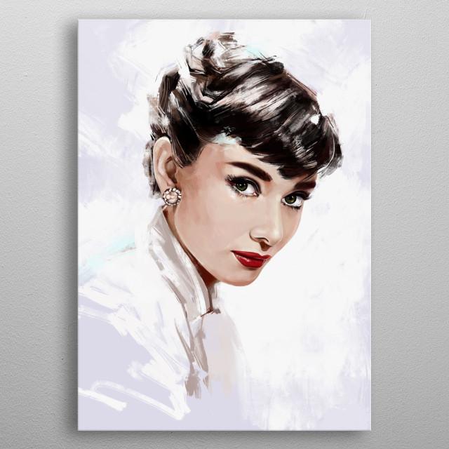 Audrey metal poster