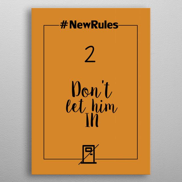 NewRules metal poster