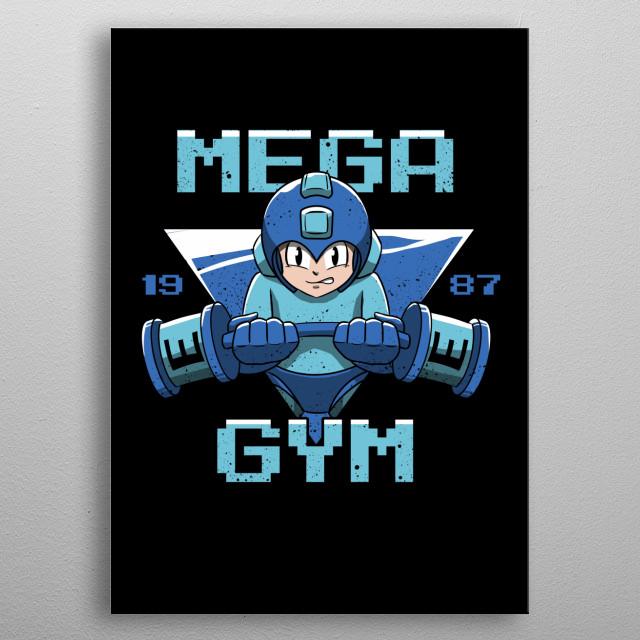 Mega Gym metal poster