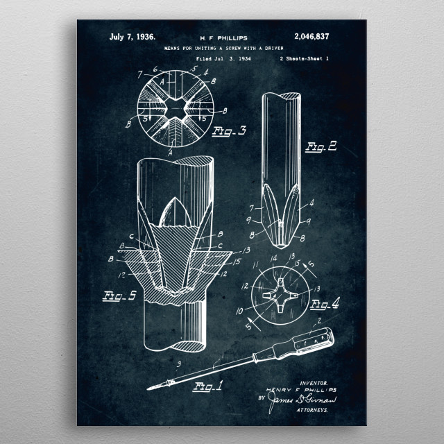 No349 - 1934 - Means for uniting a screw metal poster