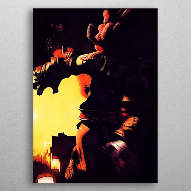 Amarant Coral - sketch  metal poster