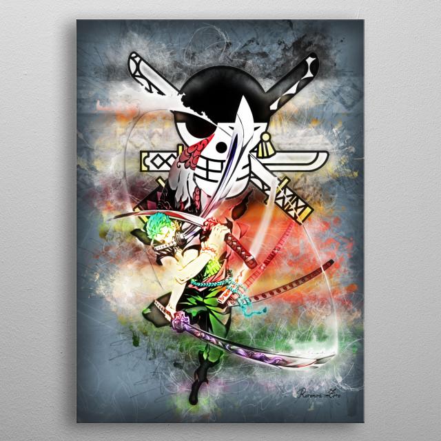 Roronoa Zoro metal poster