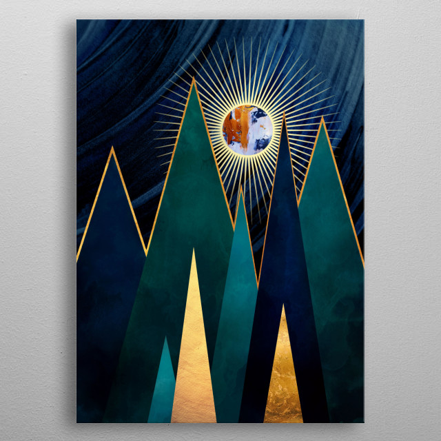 Fascinating metal poster designed by SpaceFrog Designs. Displate has a unique signature and hologram on the back to add authenticity to each design. metal poster