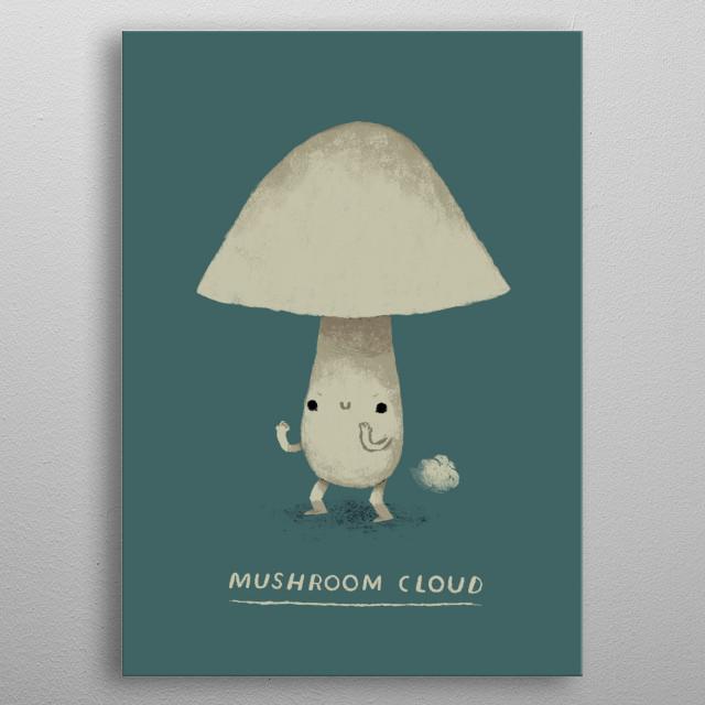 mushroom cloud metal poster