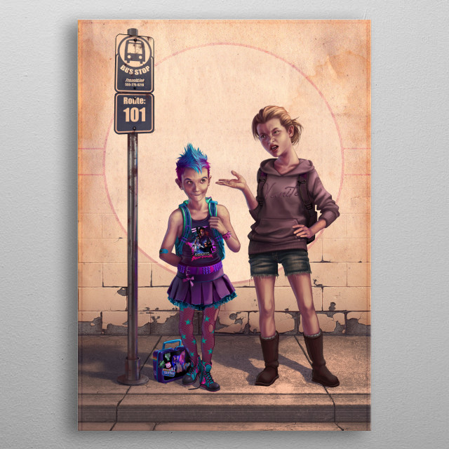 The First Day of School metal poster