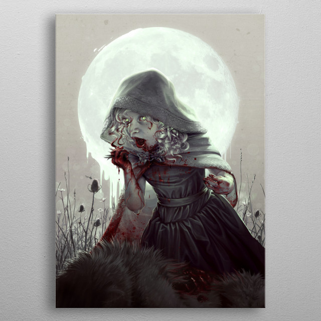 Red Riding Hood Devours the Wolf metal poster