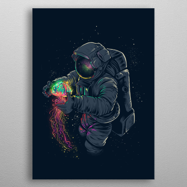 High-quality metal print from amazing Intergalactic collection will bring unique style to your space and will show off your personality. metal poster