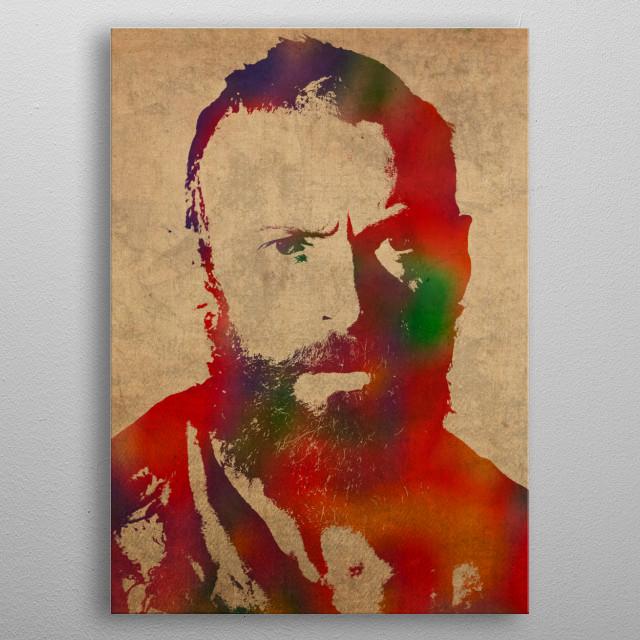 Les Miserables Watercolor Portrait Series 004 metal poster
