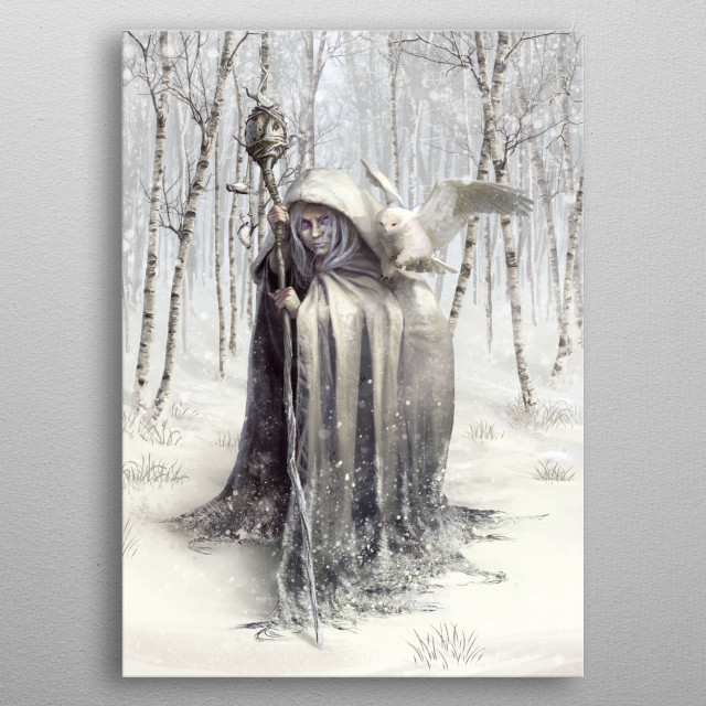 Witch of the White Wood metal poster