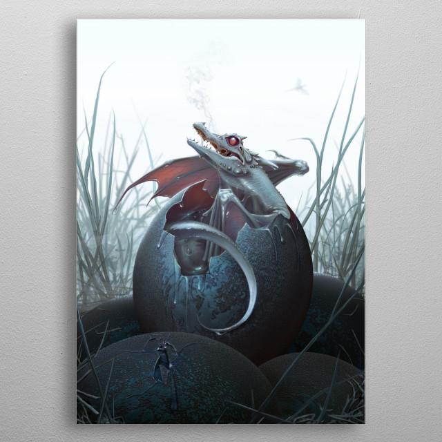 Dragon Hatchling metal poster