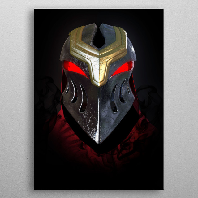 Zed, the Master of Shadows metal poster