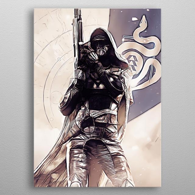 Hunter - sketch metal poster