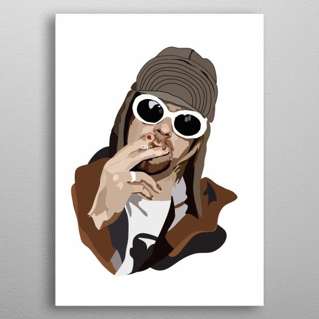 Kurt Cobain  metal poster