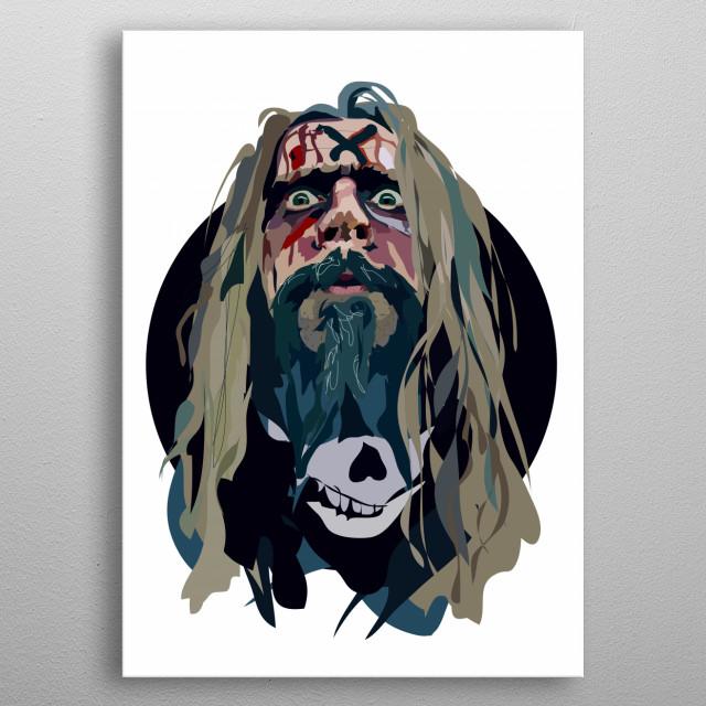 Rob Zombie metal poster