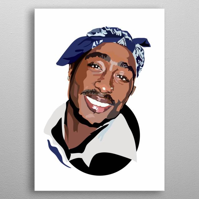 Tupac Shakur metal poster