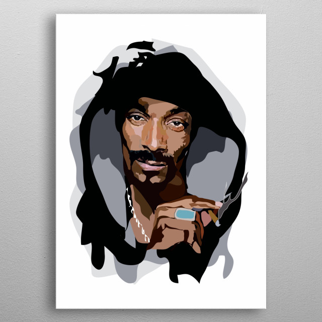 Snoop Dogg metal poster