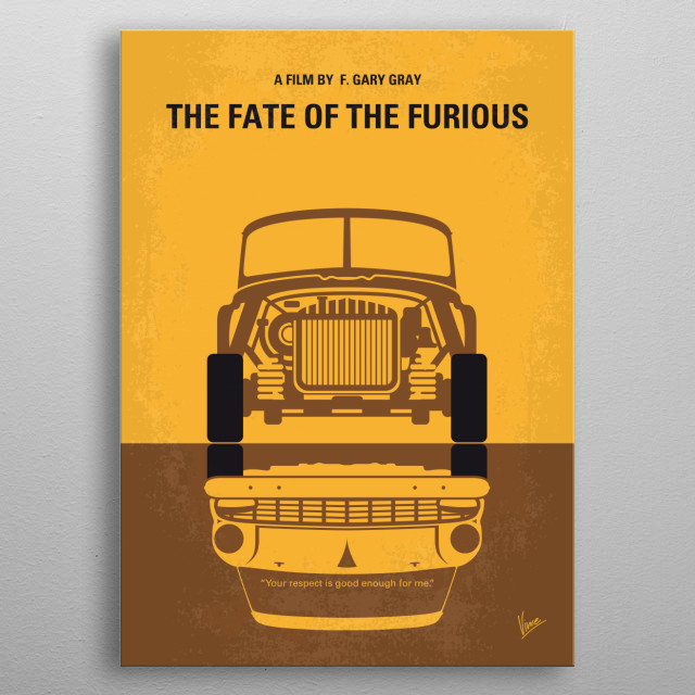 No207-8 My The Fate of the Furious minimal movie p metal poster
