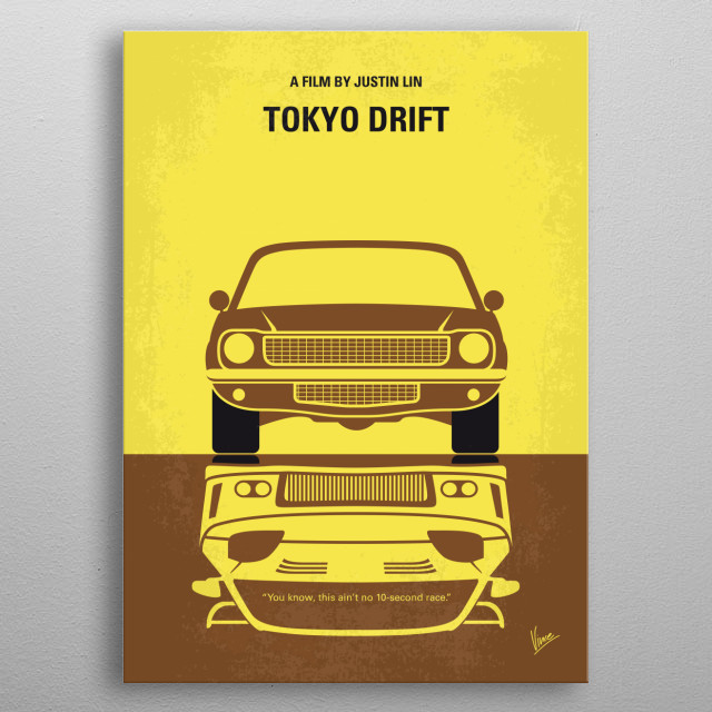 No207-3 My Tokyo Drift minimal movie poster metal poster