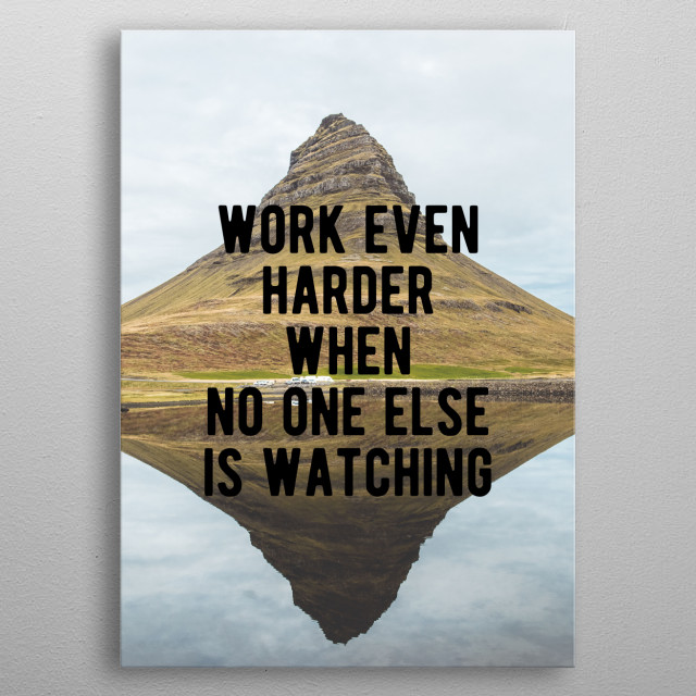 Motivational - Hard Work metal poster
