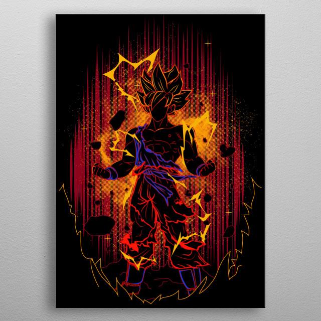 Shadow of the Saiyan metal poster
